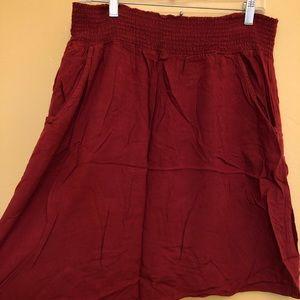 Crimson red skirt